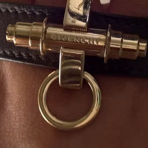 Givenchy Leather & Metal Cuff